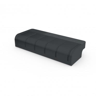 Modulo batteria grigio antracite con ricevitore radio